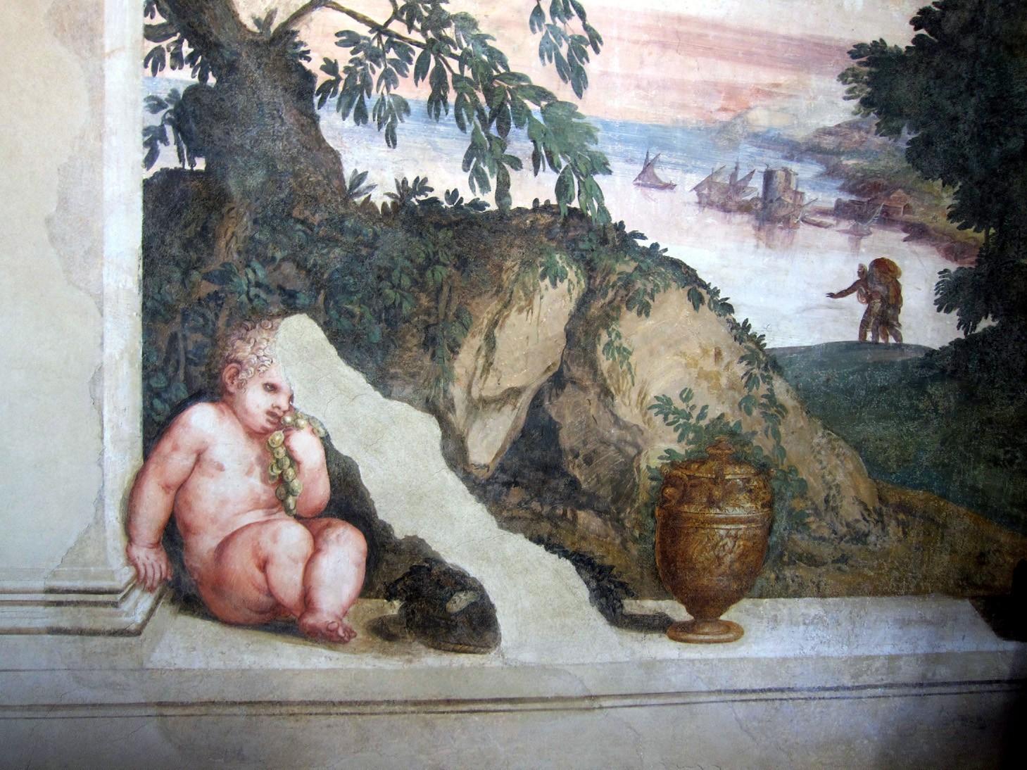 Affresco nella Villa dei Vescovi nei Colli Euganei