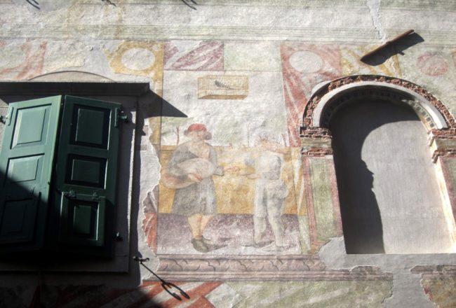 cividale affreschi palazzo Levrini Stringher