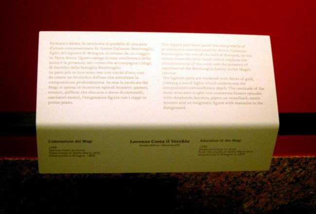 pinacoteca brera cartellino didascalie