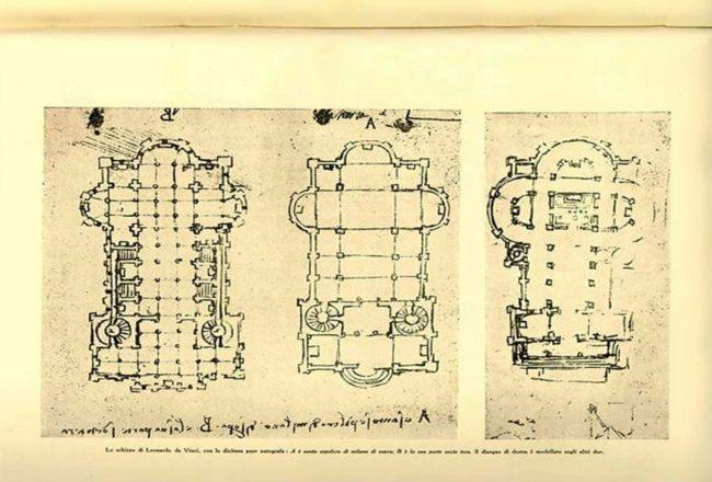 pianta cripta san sepolcro milano leonardo