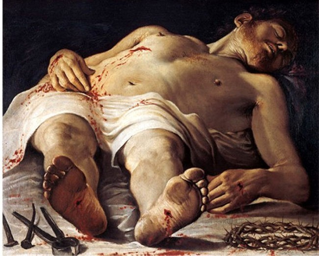 carracci cristo morto