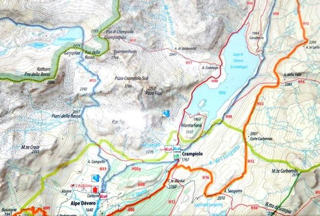 mappa passo Rossa