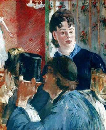 Manet e laParigi moderna. Manet, La cameriera della birreria