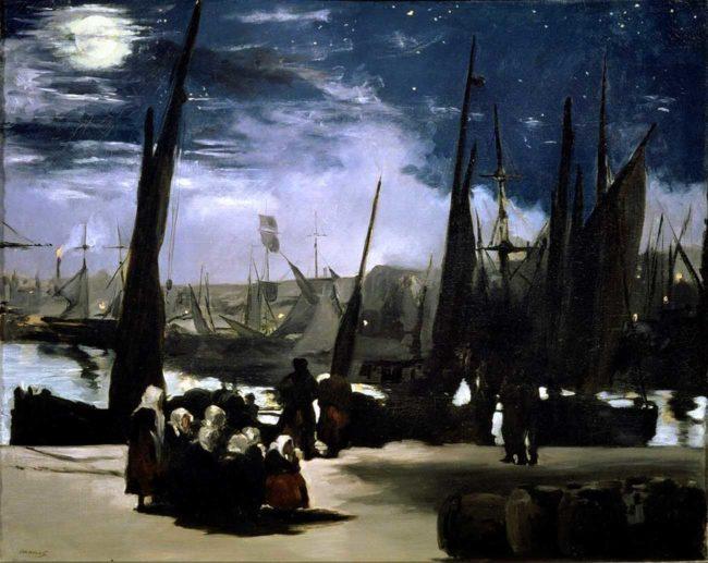 Manet e la Parigi moderna: Manet, Chiaro di luna sul porto di Boulogne