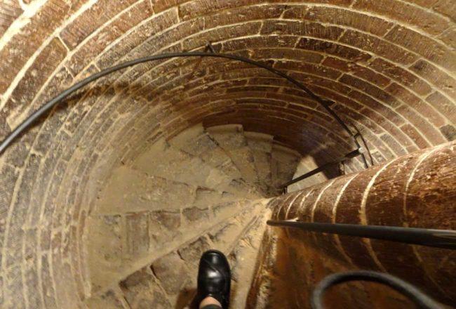 Il Guercino a Piacenza: scala per la cupola del Duomo (foto di Francesca Longoni)