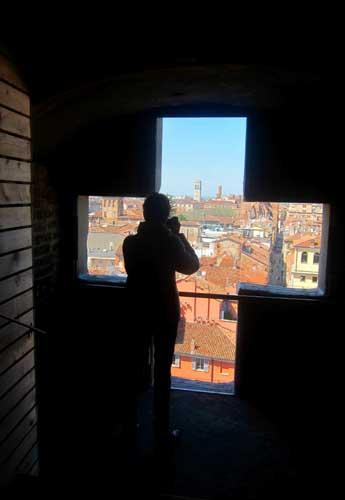 Il Guercino a Piacenza: vista dalla croce della facciata del Duomo