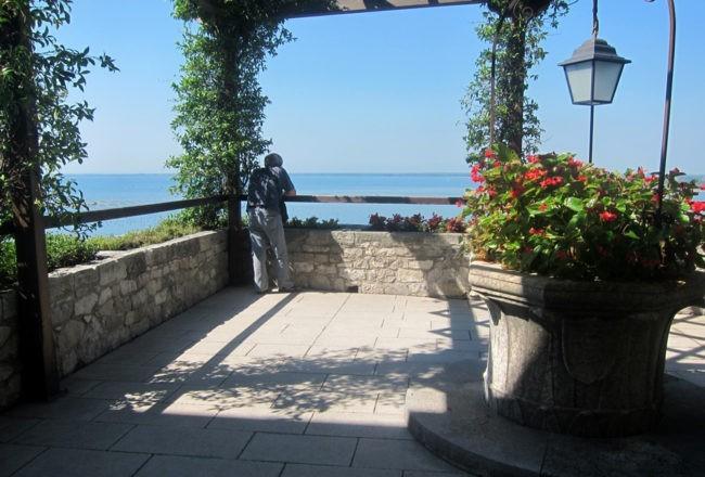 Duino il romantico castello di Rilke: terrazzo sul mare