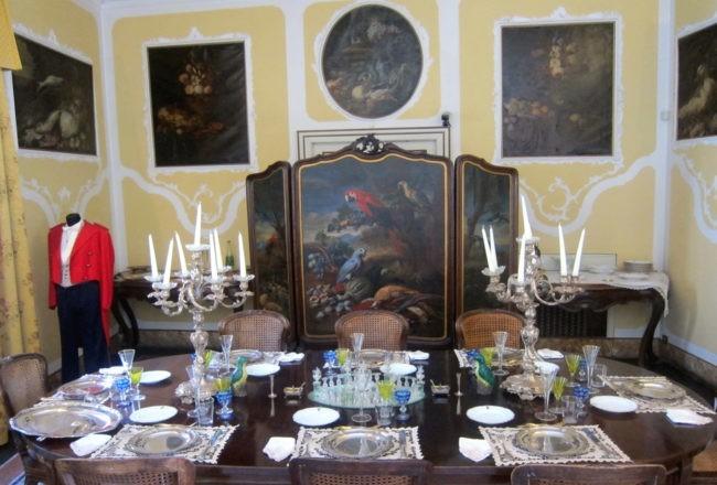 Duino il romantico castello di Rilke: sala da pranzo