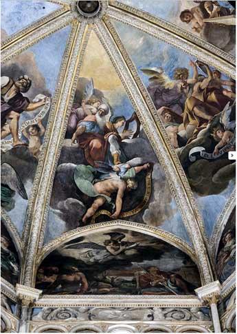 Guercino a Piacenza: affreschi della cupola del Duomo - copyright: http://guercinopiacenza.com