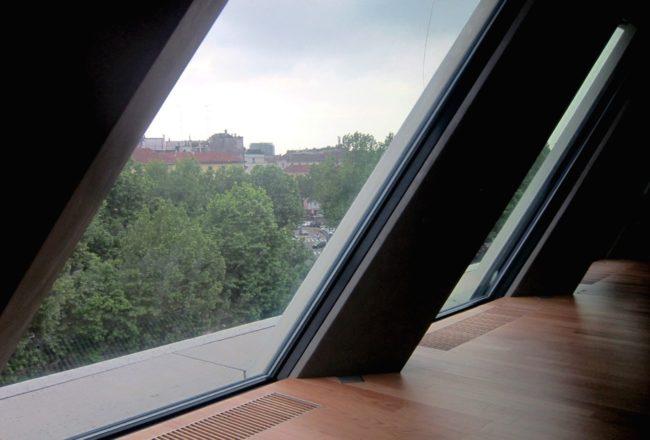 vetrate dell'ultimo piano