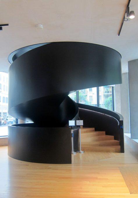 struttura della scala interna dell'edificio