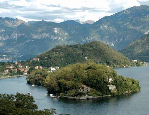 vista sul lago di como dalla sponda tremezzina