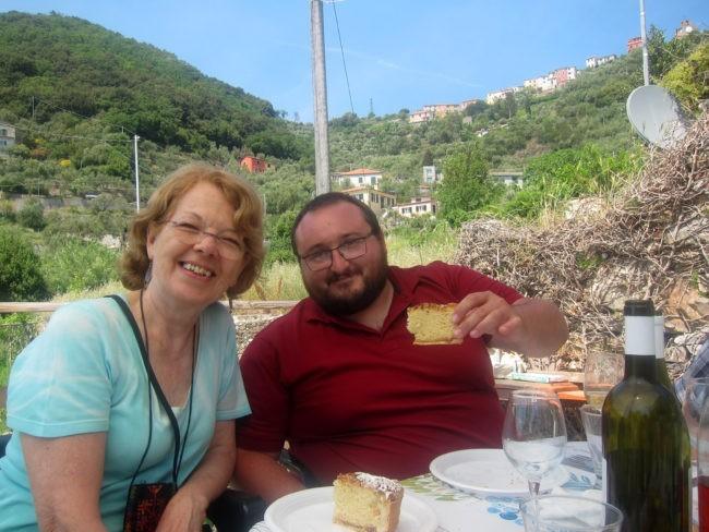 Mariella con Enrico