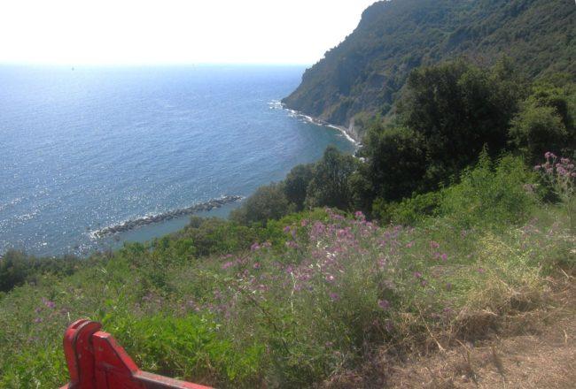 Le spiagge di Framura viste dall'alto