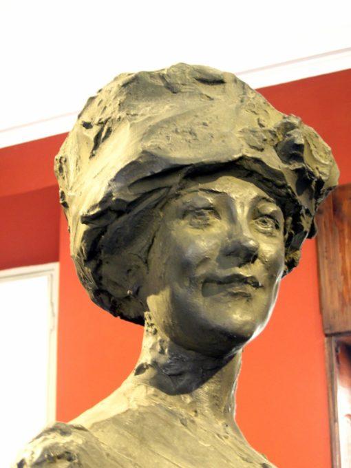 particolare del ritratto della moglie di Troubetzkoy