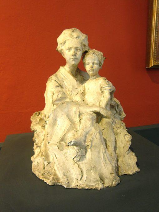 la moglie e il figlio di Troubetzkoy