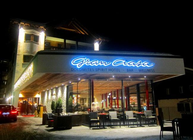 Entrata albergo Gran Ciasa a Colfosco