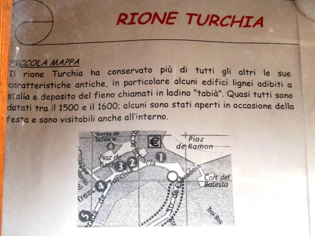 Mappa del Rione Turchia a Moena