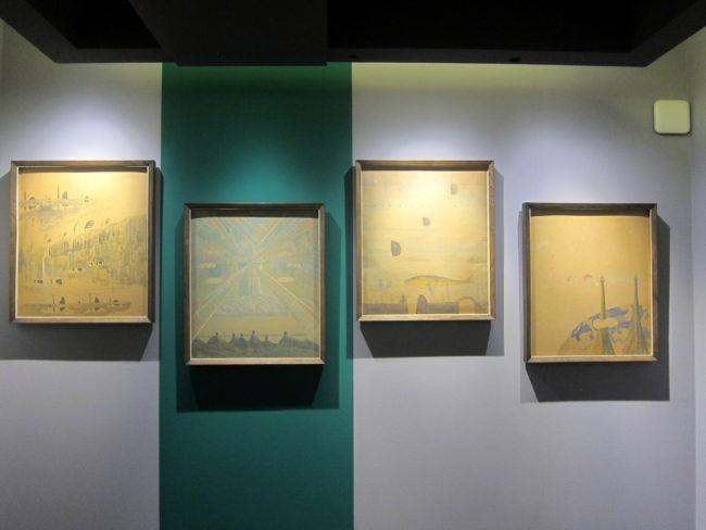 Dipinti di Ciurlionis alla mostra Kandinsky Cage