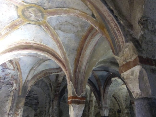 Volte della cripta longobarda di Sant'Eusebio a Pavia