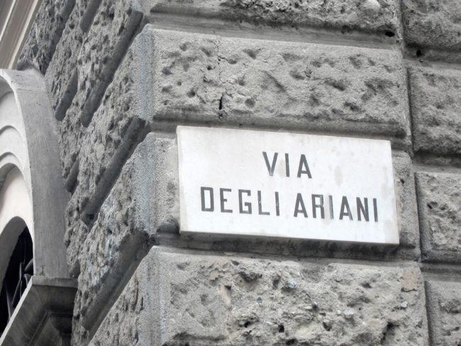 Via degli Ariani a Pavia