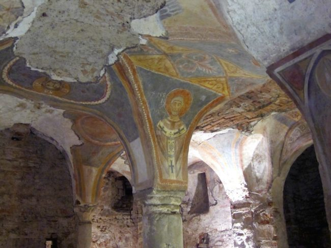 Affreschi cripta S. Giovanni Domnarum a Pavia