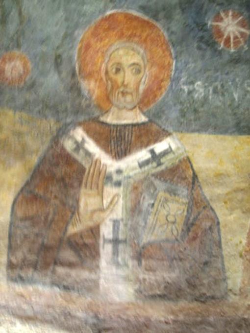 Figura di santo nella cripta S. Giovanni Domnarum a Pavia