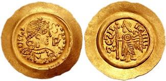 Monete alla mostra sui Longobardi di Napoli