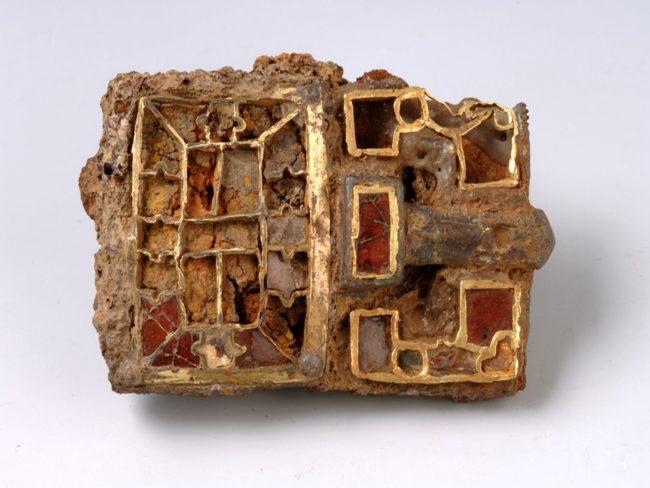 Fibula longobarda del museo civico di Alessandria