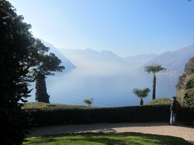 Vista sul lago di Como da Villa Balbianello