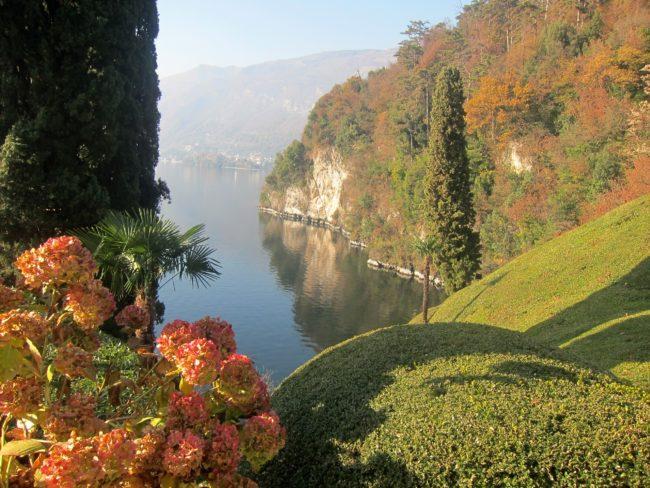 Vista dal giardino di Villa Balbianello