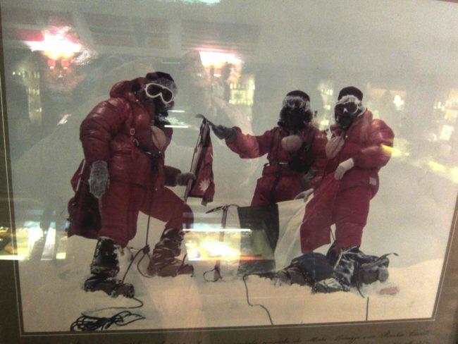Monzino e i suoi compagni al Polo Nord
