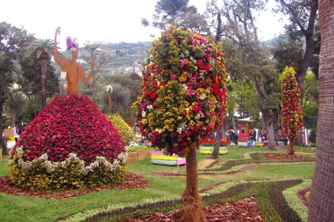 Composizione floreale di Murcia a Euroflora2018
