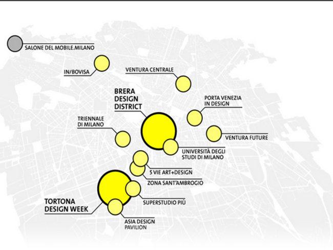 Fuorisalone del Mobile Milano mappa