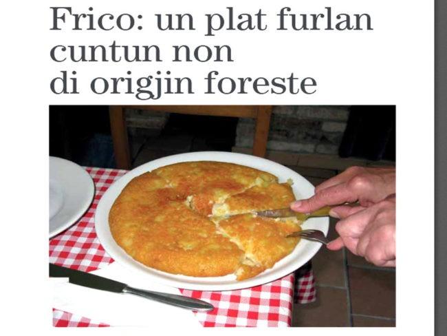 frico, un piatto decisamente friulano