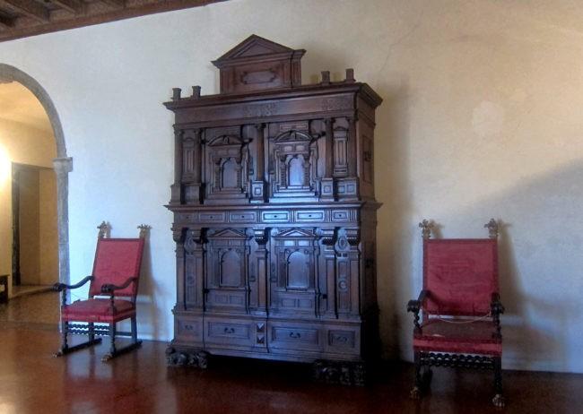 Armadio nel Castello Cini di Monselice
