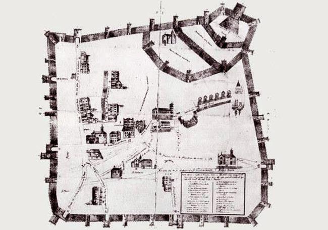 mappa Rocca Federiciana di Monselice