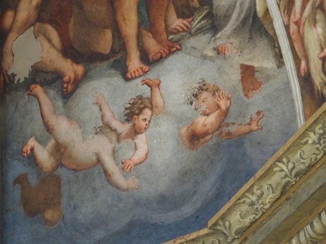 angioletti nella cupola del Pordenone