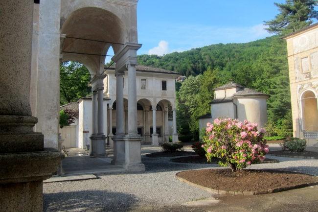 Vista delle cappelle del Sacro Monte di Varallo