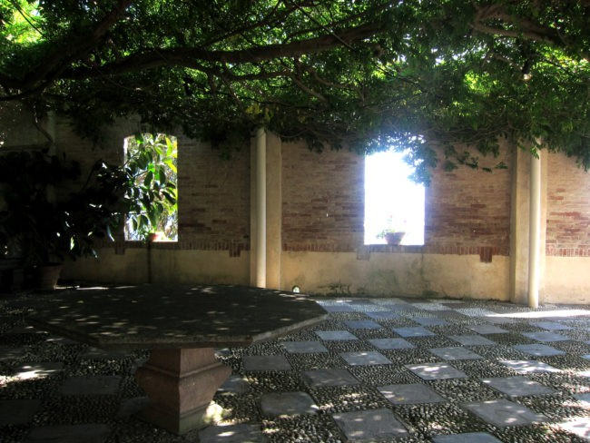 Una parte del giardino de La Cervara