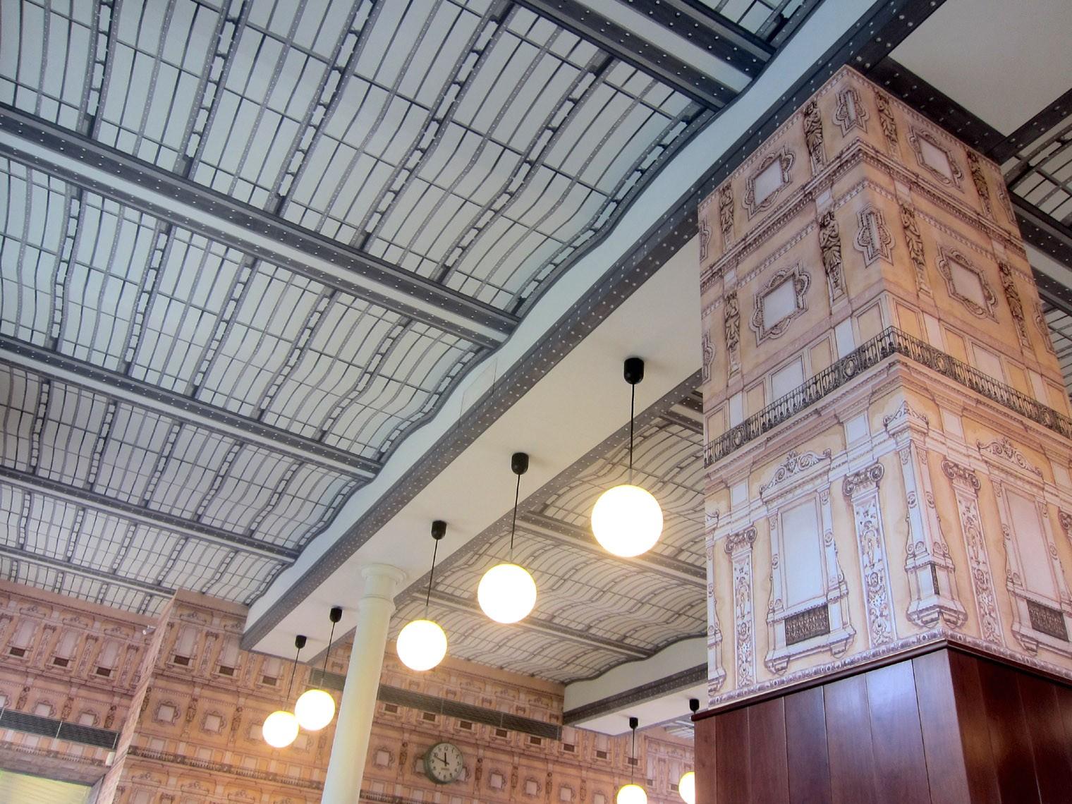Decorazione del Bar Luce Fondazione Prada