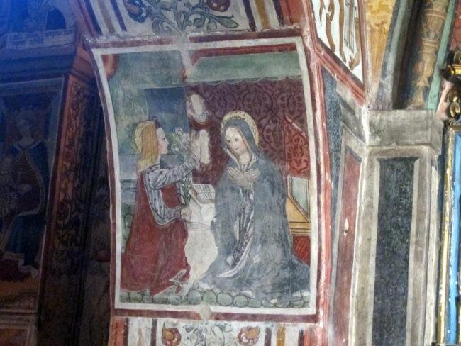 affresco nella Cappella della Madonna nella chiesa di Baceno