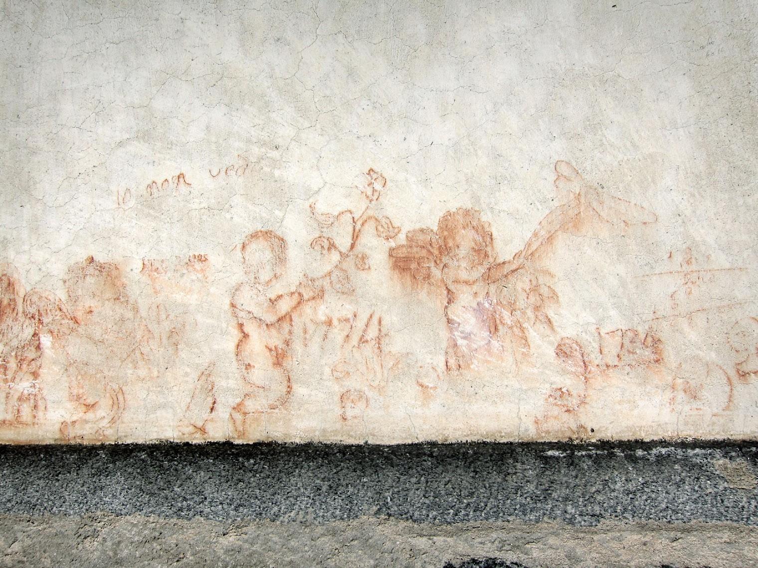 particolare graffiti esterni chiesa di Baceno
