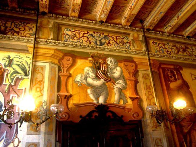 Villa Ca' Conti stemmi nobiliari