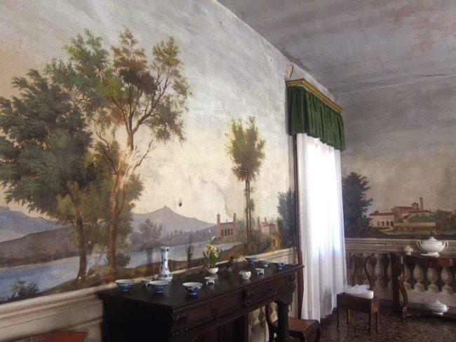 Villa Ca' Conti affreschi sala pranzo