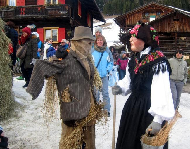 maschere al carnevale di sappada