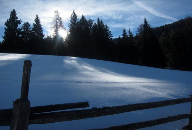 neve sulla via per Pietralba