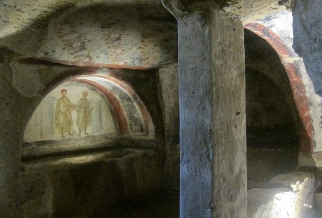affreschi catacombe di san gennaro