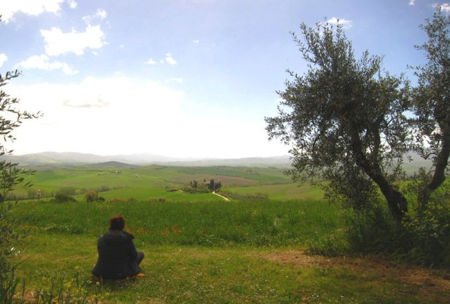 colline toscane in val d'Orcia