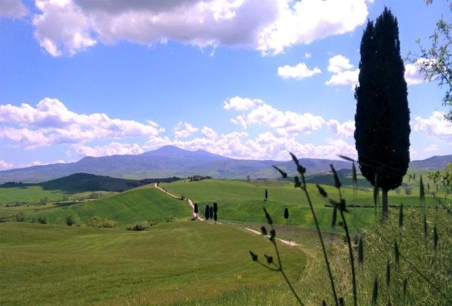 val d'orcia panorama delle colline